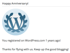 "WP, I'm going to ignore the grammar error of ""years"" since you're expecting me to stick around -- thank you."