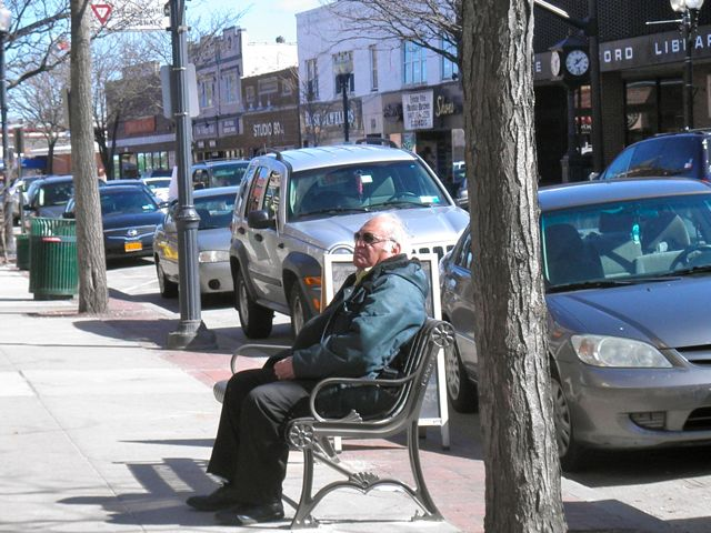 This gentleman sat outside near ROAST, soaking up some sun.  In my mind, I named him Thaddeus.  Thaddeus from Patchogue.