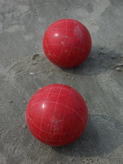 Bocce Balls on the Beach