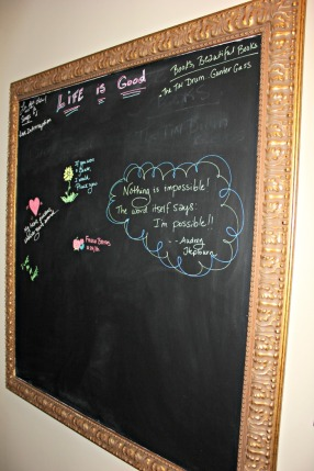 Giant Chalkboard.  I'm just getting started.
