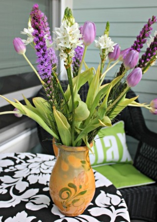Purple tulips in my favorite vase.