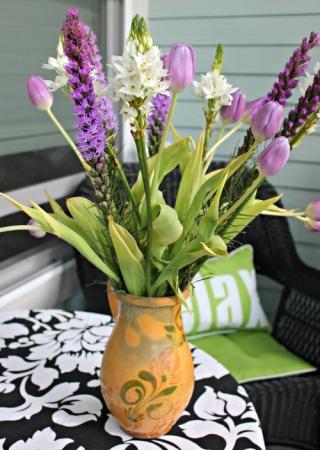 Purple tulips in my favorite vase.