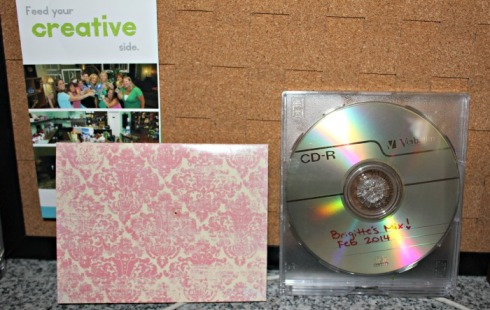 When's the last time someone made you a mix tape, er CD?  Lily's lovely card and my very own special mix CD.