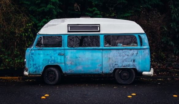 I'd like to drive this blue bus somewhere and write some words that describe the journey. And the destination once I get there.
