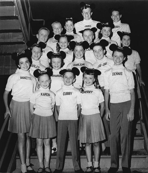 Disney established their Mouseketeer brand way back in 1957. Which one of these would you be? I pick Darlene, smiling, right there in the middle. I bet she grew up with plenty of chutzpah